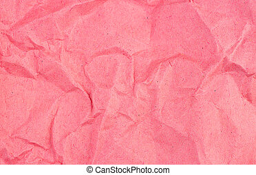 Crumpled recycled red paper background texture