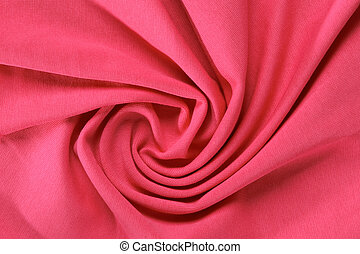 crumpled red fabric