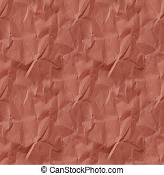 Crumpled red paper texture. seamless pattern