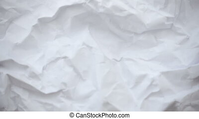 Crumpled sheet of paper. Live wallpaper background. Slow ...