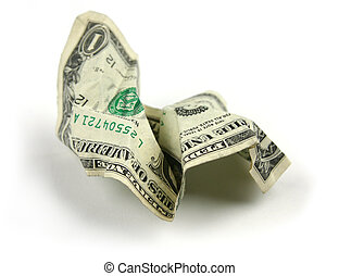 Crumpled - Financial Concept: Wadded up money
