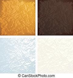 Crumpled textures