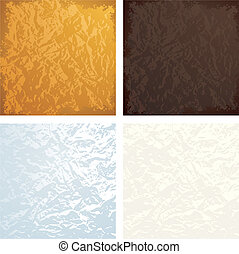 Crumpled textures - Crumpled color foil background