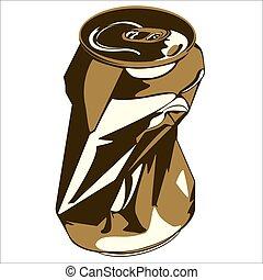 crumpled tin can