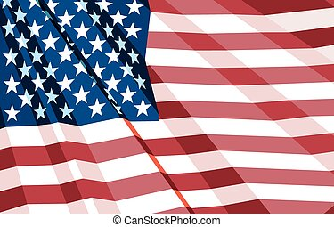 Crumpled US Flag