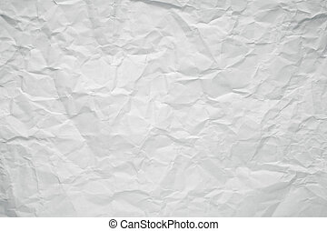 Crumpled white office paper texture.