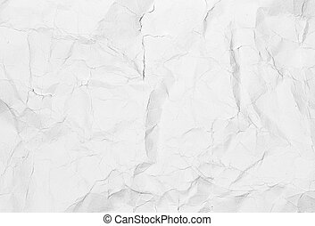 Crumpled white paper background texture. Vintage craft paper...