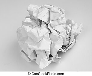 crumpled white paper