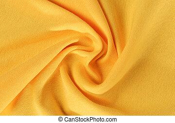 crumpled yellow fabric