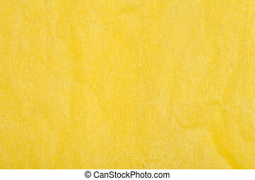 Crumpled yellow paper background.