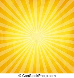 Crumpled Yellow Sunburst Background