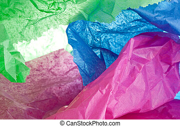 Crumppled Tissue - Colored tissue paper crumpled up
