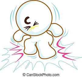 Crunch like mean very like it art symbol vector cartoon.