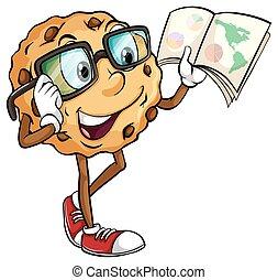 crunchy, クッキー, 読書