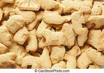 Crunchy Lemon Animal Cracker Cookies on a Background