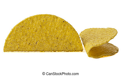 crunchy mexican taco shells - Close up image of crunchy...