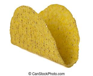 crunchy taco shell - Close up image of crunchy taco shell...