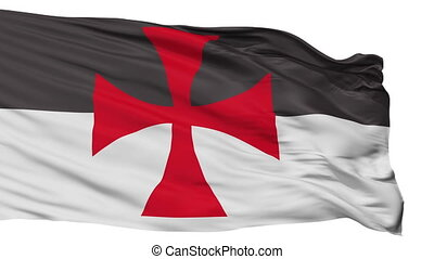 Crusader Flag Flag, Isolated On White Seamless Loop