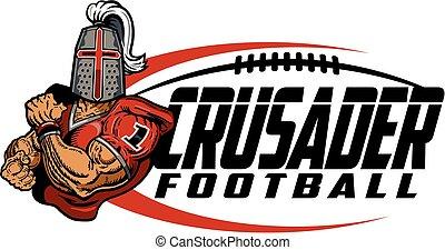 crusader football - muscular crusader football player team...