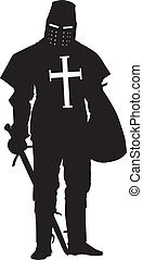 Crusader. Warriors Theme - Knight with sword and shield...
