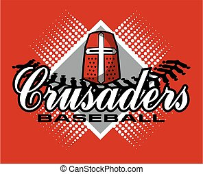crusaders baseball team design with stitches and helmet for...