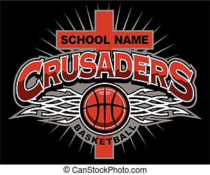crusaders basketball team design with ball for school,...