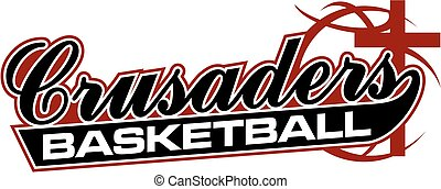 crusaders basketball team design in script with tail for...