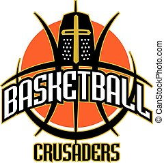 crusaders basketball team design with helmet inside ball for...
