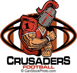 crusaders football - muscular crusaders football player team...
