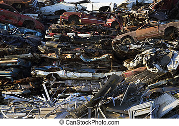 Crushed Cars and Scrap Metal