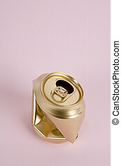 crushed gold can