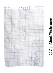 Crushed Notepad Sheet - Single sheet of squared notepad...