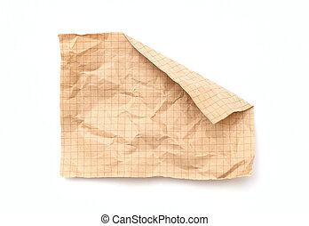 crushed paper in a cell