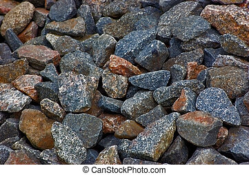 Crushed rocks macro pattern, large background