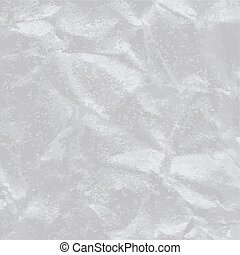 Crushed silver covering paper texture illustration