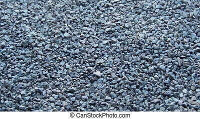 Crushed Stone Background - Crushed Stone close-up Lies on...