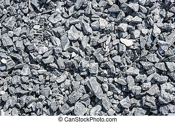 Close up crushed stone use for mix with cement in construction site