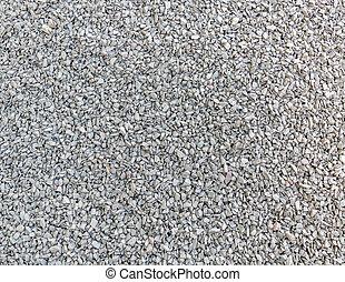 Crushed stone (macadam, rubble).