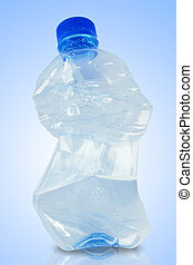 Crushed water bottle