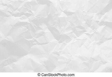 Crushed white paper texture as background
