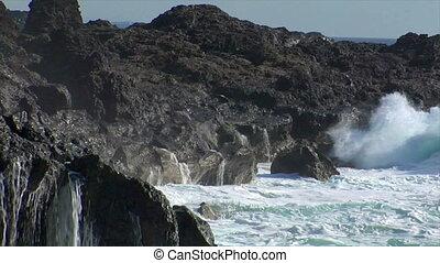 crushing big waves all around