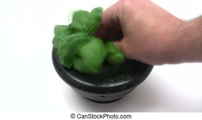 Crushing Herbs - Time Lapse - Canon HV30. HD 16:9 1920 x...