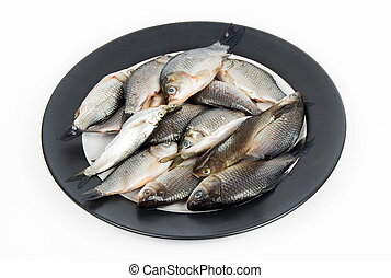 Crusian carp fish on the plate