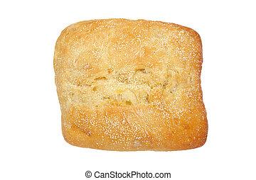 Crusty bread bun
