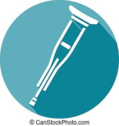 crutch flat icon