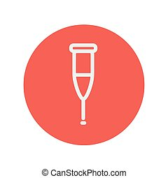 Crutch thin line icon for web and mobile minimalistic flat...