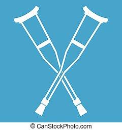 Crutches icon white