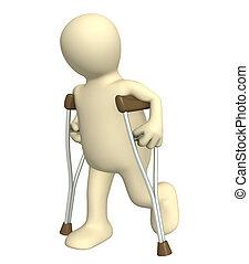 crutches, invalido