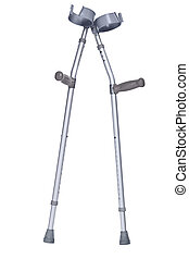 Crutches isolated clipping path