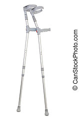 crutches isolated on white